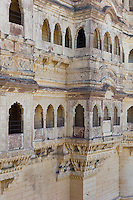 Mehrangarh Fort 19th Century at Jodhpur in Rajasthan, Northern India