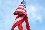 American flag in Sullivan, Maine, USA