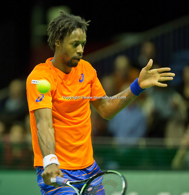 Februari 11, 2015, Netherlands, Rotterdam, Ahoy, ABN AMRO World Tennis Tournament, Gael Monfils (FRA)<br /> Photo: Tennisimages/Henk Koster