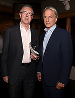 "STUDIO CITY, CA - NOVEMBER 6:  (L-R) Tony Frost and Mark Harmon attend the TV Guide Magazine Cover Party for Mark Harmon and 15 seasons of the CBS show ""NCIS"" at River Rock at Sportsmen's Lodge on November 6, 2017 in Studio City, California. (Photo by Frank Micelotta/PictureGroup)"