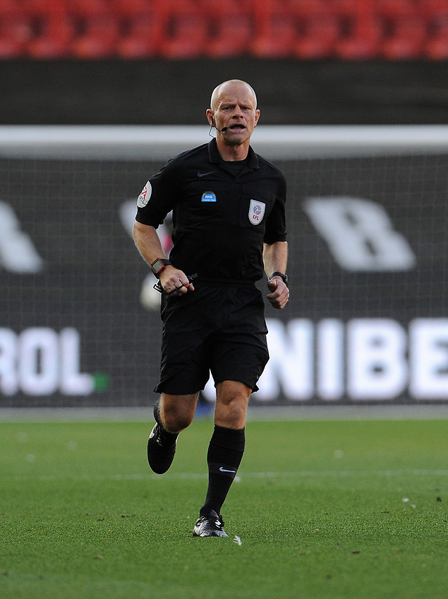 Referee Andy Woolmer during the game <br /> <br /> Photographer Ian Cook/CameraSport<br /> <br /> The EFL Sky Bet Championship - Bristol City v Preston North End - Wednesday July 22nd 2020 - Ashton Gate Stadium - Bristol <br /> <br /> World Copyright © 2020 CameraSport. All rights reserved. 43 Linden Ave. Countesthorpe. Leicester. England. LE8 5PG - Tel: +44 (0) 116 277 4147 - admin@camerasport.com - www.camerasport.com