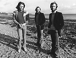 Bee Gees 1976 Barry Gibb, Maurice Gibb and Robin Gibb on Isle Of Man