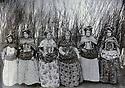 Iran 1910?.<br /> Wives of landlords in a garden of Saqez: 3rd from left,Zubeida Khanoum, wife of Colonel Said Khan Fateh, Fatima Khanoum, mother of Pakzad, Sakine Khanoum Maedeh, wife of Seido Suleiman Mohammed Hassan Khan and Amene Khanoum, wife of Seifolla Khan Ardalan .<br /> Iran 1910?.<br /> Femmes de proprietaires terriens dans un jardin de Saqez: 3rd from left, Zubeida Khanoum, femme du colonel Said Khan Fateh, Fatima Khanoum, mere de Pakzad, Sakine Khanoum Maedeh, femme de Seido Suleiman Mohammed Hassan Khan et Amene Khanoum, femme de Seifolla Khan Ardalan