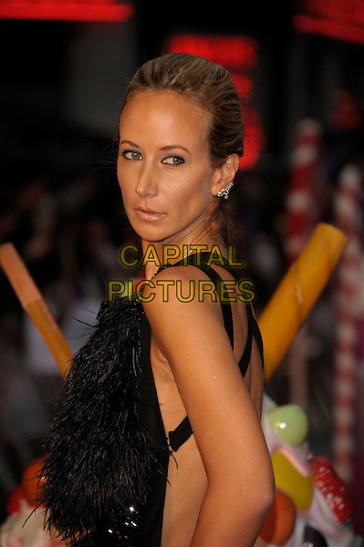 Lady Victoria Hervey.'Katy Perry:  Part of Me 3D' european film premiere, Empire cinema, Leicester Square, London, England..3rd July 2012 .half length black dress sleeveless feathers side looking over shoulder .CAP/PL.©Phil Loftus/Capital Pictures.