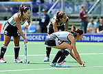 The Hague, Netherlands, June 14: Players of Argentina line up for a penalty corner during the field hockey bronze medal match (Women) between USA and Argentina on June 14, 2014 during the World Cup 2014 at Kyocera Stadium in The Hague, Netherlands. Final score 2-1 (2-1)  (Photo by Dirk Markgraf / www.265-images.com) *** Local caption ***