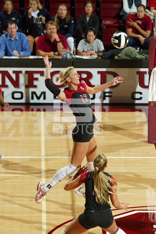 15 September 2005: Erin Waller during Stanford's 3-0 win over Saint Mary's in Maples Pavilion in Stanford, CA.