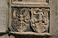 Slowenien. Celje, Wappen an Danielkirche