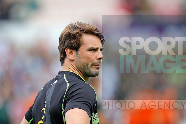 Ben Foden of Northampton Saints - Rugby Union - Aviva Premiership - Northampton Saints vs Exeter Chiefs - Franklins Gardens Northampton -  Season 2013-2014 - September 7th 2013 - Photograph Malcolm Couzens/Sportimage