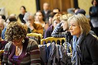 Roma, 16 Aprile 2011.Provincia di Roma, Sala Di Liegro.Commemorazione per Vittorio Arrigoni.Nella foto Giuliana Sgrena