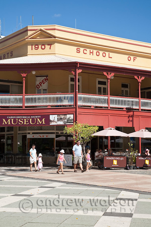 Cairns Museum housed in old School of Arts building on Cairns City Place.  Cairns, Queensland, Australia