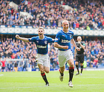 Kenny Miller and Jordan Rossiter celebrate the winner in added on time