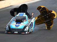 Jul 22, 2017; Morrison, CO, USA; NHRA funny car driver Jeff Diehl during qualifying for the Mile High Nationals at Bandimere Speedway. Mandatory Credit: Mark J. Rebilas-USA TODAY Sports