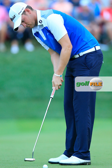 Bernd WIESBERGER (AUT) putts on the 18th tee during Sunday's Final Round of the 2014 PGA Championship held at the Valhalla Club, Louisville, Kentucky.: Picture Eoin Clarke, www.golffile.ie: 10th August 2014