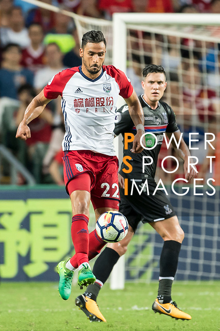 West Bromwich Albion midfielder Nacer Chadli in action during the Premier League Asia Trophy match between West Bromwich Albion and Crystal Palace at Hong Kong Stadium on 22 July 2017, in Hong Kong, China. Photo by Weixiang Lim / Power Sport Images