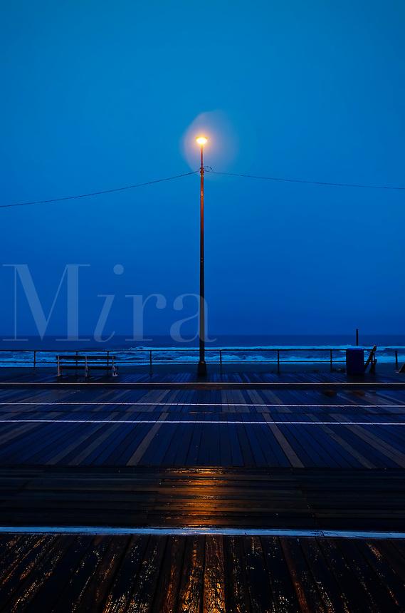 Ocean City boardwalk, New Jersey, street light, light, mood, moody,