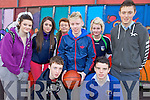 CHARITY: Students from Coláiste Íde agus Iosaef, Abbeyfeale who took part in the charity basketball tournament at Listowel Sports Centre last Friday, front l-r: Thomas Scanlon, Shane Horgan, Jamie O'Connor. Back l-r: Karen Mangan, Laura Sheerin, Carina Prendiville (Teacher), Lisa O'Connell, Cathal Broderick.