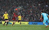 17th March 2018, Anfield, Liverpool, England; EPL Premier League football, Liverpool versus Watford; Sadio Mane of Liverpool races through on goal