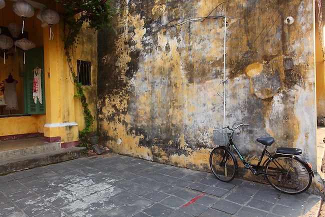 Bicycle still life. Hoi An, Vietnam. April 15, 2016.