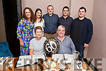Dom O'Connell (Lismore Waterford) and Kenmare celebrating his 60th birthday in Croi on Saturday.<br /> Seated Dom and Kathleen O'Connell.<br /> Back l to r: Sarah and Karen O'Connell, Tony Fahy, Kieran and Brian O'Connell