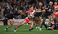 Matthew Dufty.<br /> NRL Premiership rugby league. Vodafone Warriors v St George Illawarra. Mt Smart Stadium, Auckland, New Zealand. Friday 20 April 2018. &copy; Copyright photo: Andrew Cornaga / www.Photosport.nz