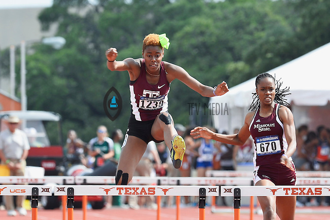 Shamier Little of Texas A&M competes in 400 meter hurdles prelims during West Preliminary Track and Field Championships, Friday, May 29, 2015 in Austin, Tex. (Mo Khursheed/TFV Media via AP Images)