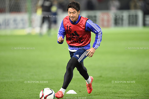 Shinji Kagawa (JPN), <br /> MARCH 30, 2015 - Football / Soccer : <br /> Japan training session <br /> at Tokyo Stadium in Tokyo, Japan. <br /> (Photo by AFLO SPORT)