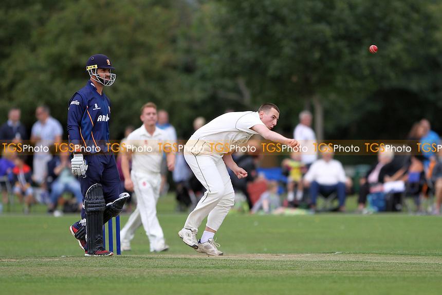 Upminster bowler during Upminster CC vs Essex CCC, Ravi Bopara Benefit Cricket Match at Upminster Park, Upminster, England on 16/08/2015