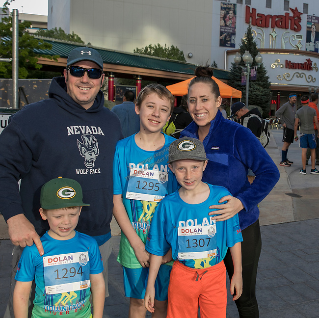 The Larabee family during the Downtown River Run on Sunday, April 30, 2017 in Reno, Nevada.
