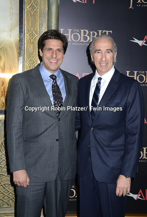 "Gary Barber and Jonathan Glickman of MGM attends the US Premiere of ""The Hobbit"" on December 6, 2012 at the Ziegfeld Theatre in New York City."