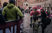 Sep Vanmarcke (BEL/Education First-Drapac) just finished<br /> <br /> 12th Strade Bianche 2018<br /> Siena &gt; Siena: 184km (ITALY)