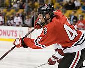 Steve Birnstill (NU - 44) - The Northeastern University Huskies defeated the Harvard University Crimson 3-1 in the Beanpot consolation game on Monday, February 12, 2007, at TD Banknorth Garden in Boston, Massachusetts.