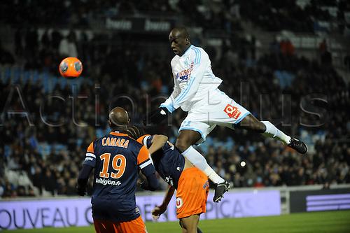 29.11.2013. Marseilles, France. French League 1 football. Marseilles versus Montpellier.  Diawara (OM)