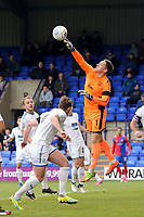 Scott Davies of Tranmere Rovers punches clear during Tranmere Rovers vs Dagenham & Redbridge, Vanarama National League Football at Prenton Park on 11th November 2017