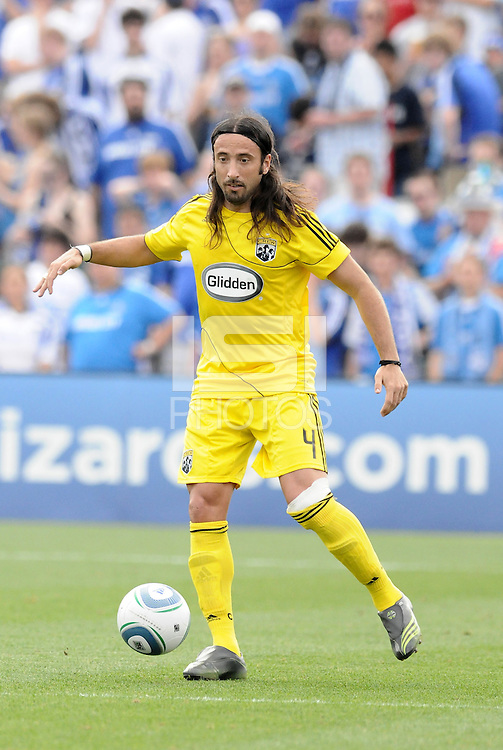 Gino Padula...Kansas City Wizards were defeated 1-0 by Columbus Crew at Community America Ballpark, Kansas City, Kansas.