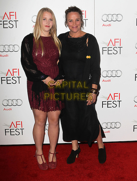 Anna Ahlander & China Ahlander .AFI FEST 2012 'On The Road' gala screening, Grauman's Chinese Theatre, Hollywood, California, USA..3rd November 2012.full length dress black maroon red lace mother mom mum daughter family.CAP/ADM/KB.©Kevan Brooks/AdMedia/Capital Pictures.