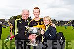 Dr Crokescaptain johnny Buckley celebrates with his parents Mike after defeating Kenmare in the SFC final in Fitzgerald Stadium on Sunday