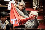 20161019/ Javier Calvelo - adhocFOTOS/ URUGUAY/ MONTEVIDEO/ Palacio Legislativo - C&aacute;mara de Dipitados - Asamblea General/ En el 50 aniversario de la unificaci&oacute;n del movimiento sindical, el PIT-CNT se realiz&oacute; por parte de la Asamblea General Legislativa un homenaje al Pit-Cnt por parte de todos los partidos pol&iacute;ticos y presencia de dirigentes sindicales en las barras.<br /> En la foto:  Oscar Groba durante el homenaje a la central sindical PIT-CNT en Asamblea General del Palacio Legislativo. Foto: Javier Calvelo/ adhocFOTOS