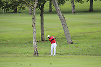Anirban Lahiri (Asia) on the 1st fairway during the Singles Matches of the Eurasia Cup at Glenmarie Golf and Country Club on the Sunday 14th January 2018.<br /> Picture:  Thos Caffrey / www.golffile.ie
