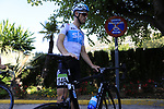 Salvatore Puccio (ITA) Team Sky gets ready for a morning training ride before Stage 1 of the La Vuelta 2018, an individual time trial of 8km running around Malaga city centre. Mijas, Spain. 23rd August 2018.<br /> Picture: Eoin Clarke | Cyclefile<br /> <br /> <br /> All photos usage must carry mandatory copyright credit (&copy; Cyclefile | Eoin Clarke)