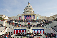 The Inauguration of President Barack H. Obama, 44th president of the United States, on the West Front of the Capitol. January 20, 2009<br /> <br /> Photo by Architect of the Capitol photographers.