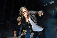 DERBYSHIRE, ENGLAND - AUGUST 12:   &Ouml;rjan &Ouml;rnkloo and Patrik Wiren of 'Misery Loves Co' performing at Bloodstock Open Air Festival, Catton Park on August 12, 2016 in Derbyshire, England.<br /> CAP/MAR<br /> &copy;MAR/Capital Pictures /MediaPunch ***NORTH AND SOUTH AMERICAS ONLY***