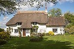 Thatched attractive country cottage, Cherhill, Wiltshire, England, UK