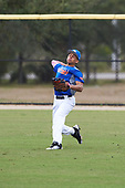 Jovani Wiggs (10) of Latham, New York during the Baseball Factory All-America Pre-Season Rookie Tournament, powered by Under Armour, on January 13, 2018 at Lake Myrtle Sports Complex in Auburndale, Florida.  (Michael Johnson/Four Seam Images)