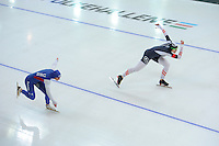 SPEED SKATING: STAVANGER: Sørmarka Arena, 29-01-2016, ISU World Cup, 500m Division A, Brittany Bowe (USA), Vanessa Bittner (AUT), ©photo Martin de Jong