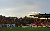 A general view of St James Park, home of Exeter City<br /> <br /> Photographer Kevin Barnes/CameraSport<br /> <br /> Emirates FA Cup First Round - Exeter City v Blackpool - Saturday 10th November 2018 - St James Park - Exeter<br />  <br /> World Copyright © 2018 CameraSport. All rights reserved. 43 Linden Ave. Countesthorpe. Leicester. England. LE8 5PG - Tel: +44 (0) 116 277 4147 - admin@camerasport.com - www.camerasport.com