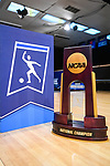 CLAYTON, MO - APRIL 14: The national championship trophy is on display during the Division I Women's Bowling Championship held at Tropicana Lanes on April 14, 2018 in Clayton, Missouri. Vanderbilt University defeated McKendree University 4-3. (Photo by Tim Nwachukwu/NCAA Photos via Getty Images)