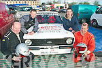 3064-3066.REVVED UP: Getting ready for the Circuit of Kerry car rally last Sunday morning were Ballyheigue team of l-r: Mike Kenny (driver), Steven O'Connell, Martin Horgan and Gene Stack (navigator).