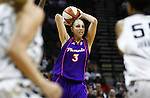Phoenix player Diana Taurasi (3) looks to pass during the WNBA game between the San Antonio Silver Stars and the Phoenix Mercury, May 20, 2008, at the AT&T Center, San Antonio, Texas. San Antonio won 81 - 76. (Darren Abate/PressPhotoIntl.com)