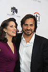 "Prospect Park's All My Children's Thorsten Kaye ""Zach Slater"" poses with Heather Roop ""Jane McIntyre on  the Red Carpet at New York Premiere Event for beloved series ""All My Children"" on April 23, 2013 at NYU Skirball, New York City, New York  as The Online Network (TOLN) - AMC - OLTL  begin airing on April 29, 2013 on Hulu, Hulu Plus. (Photo by Sue Coflin/Max Photos)"
