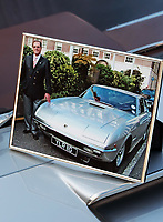BNPS.co.uk (01202 558833)<br /> Pic: Historics/BNPS<br /> <br /> Roger Moore was reunited with the beautiful motor in 2009.<br /> <br /> Live and Let Buy...<br /> <br /> An incredibly rare Lamborghini driven by Sir Roger Moore in his favourite film role has sold for almost £300,000.<br /> <br /> The silver Islero S racer was built in 1969 as one of just five right-hand drive examples produced by the Italian marque. <br /> <br /> Shortly after leaving the factory it starred in the psychological thriller The Man Who Haunted Himself which featured Moore as Harold Pelham.<br /> <br /> Although the film achieved very little success at the box office, Moore later described it as his favourite role as he 'actually got to act'.<br /> <br /> It went under the hammer with auctioneers Historics of Iver, Bucks.